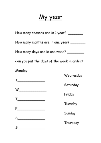 seasons months and days by s0402433 - Teaching Resources - Tes