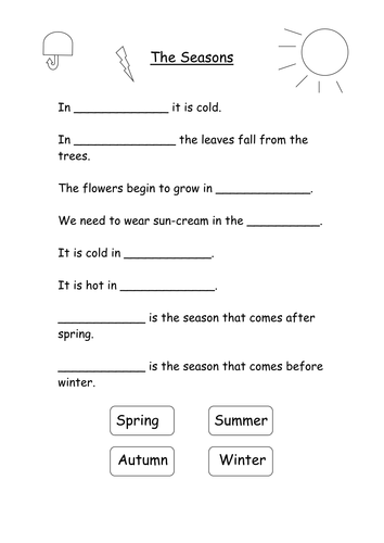 Noun Worksheets For 4th Grade Word Seasons Months And Days By S  Teaching Resources  Tes Numbers In Standard Form Worksheet Word with Algebraic Expressions Worksheets 8th Grade Word  Free Printable Worksheets For Nursery Class Pdf