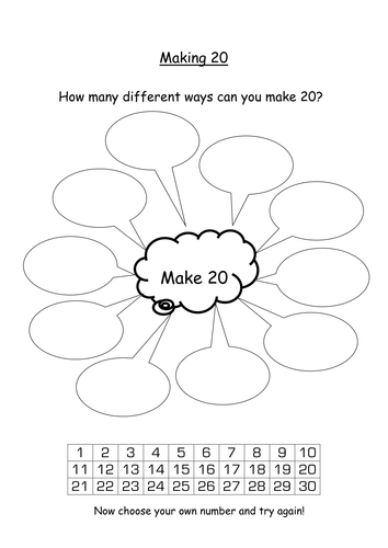 Addition and number bonds to 20 by s0402433 - Teaching Resources - Tes