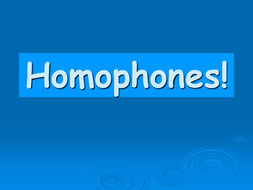 Homophones plenary game