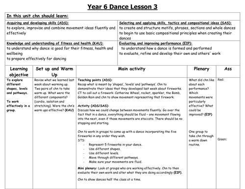 Worksheet. Dance lesson plans upper KS2 by fairykitty  Teaching Resources  Tes