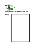 Diary Entry for a day in the life of an alien-morning.doc