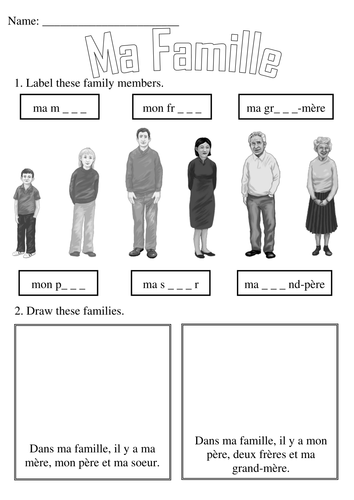 Ma Famille By Simon H Teaching Resources Tes