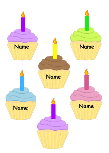 Cupcake birthday display by Shakhah - Teaching Resources - TES
