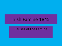 Causes of the Irish Famine