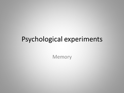 Psychological experiments memory words.pptx