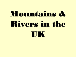 Map Of Uk Mountains And Rivers.Uk Rivers And Mountains By Alibobby Teaching Resources