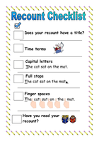 how to write a recount year 8