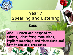 Zoo Themed Speaking And Listening Lessons