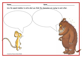 gruffalo speech bubbles by thercharl teaching resources tes. Black Bedroom Furniture Sets. Home Design Ideas