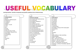 essay vocabulary by alana  teaching resources columns useful vocabdocx