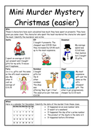 murder mystery for christmas worksheet by whieldon teaching resources tes. Black Bedroom Furniture Sets. Home Design Ideas