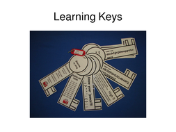 Picture of  learnings keys attached to a keyring