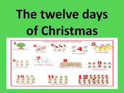 12 Days Of Christmas.Twelve Days Of Christmas Ppt