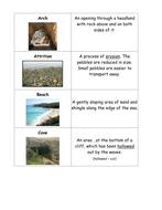 Coasts keyword sort cards