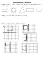 KS3 Maths Transformations worksheet