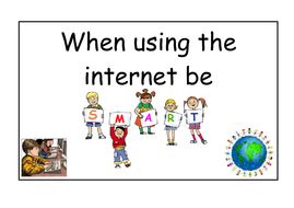 Be SMART on the internet - Internet safety display