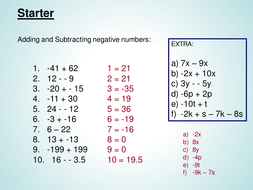 Multiplying and Dividing Negative number powerpoin
