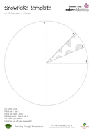 snow snowflake templates by naturedetectives teaching resources