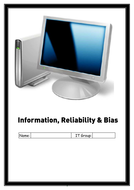 Information Reliability and Bias Worksheets