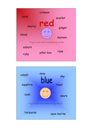 Alternative colour word squares
