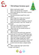 Christmas Science quiz.doc