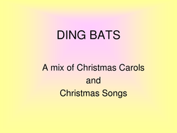 DING BATS for Christmas.ppt