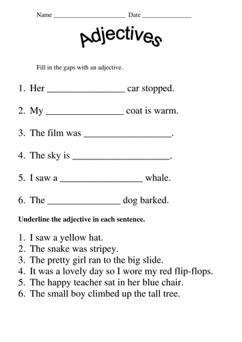 Worksheets Year 3 English Worksheets jolly grammar activities and worksheets by mazza84 teaching adjectives doc