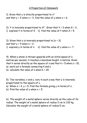 Direct And Inverse Variation Word Problems Worksheet With Answers