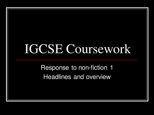 cambridge igcse history coursework training handbook Coursework training programme for cambridge igcse history (0470) these measures have over the years ensured that it is almost unknown for inappropriate coursework to be sent to the external moderator.
