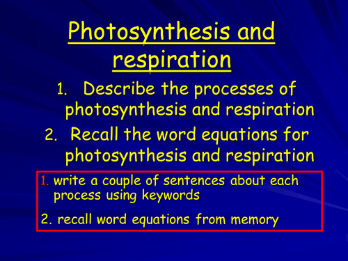 Translations Into Italian: Photosynthesis And Respiration Lower Ability By Janey447