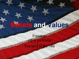 American Beliefs and Values