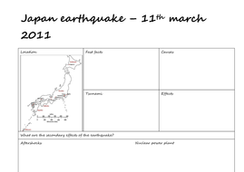 Japan 2011 tsunami by claire494 | Teaching Resources