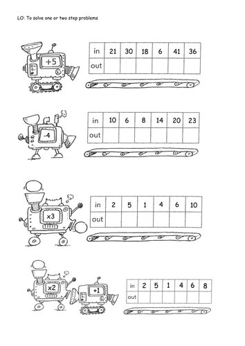 Printables Function Machines Worksheets sequence machines 1 step and 2 by isotope824 teaching resources tes