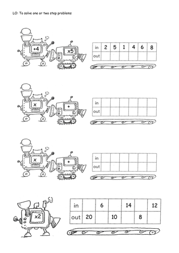 Worksheets Function Machines Worksheets sequence machines 1 step and 2 by isotope824 teaching resources tes