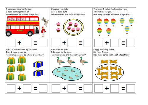 number stories addition focus by ruthbentham teaching resources tes. Black Bedroom Furniture Sets. Home Design Ideas