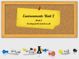 Environments BTEC CCLD Level 3 Lesson 5
