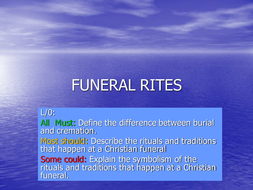 christian funeral rites powerpoint by maz1 teaching resources tes