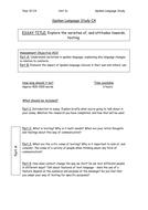 AQA Spoken Language CA Plan