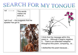 search for my tongue poem