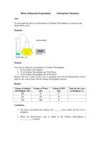 worksheet rates of reaction experiment 40 kb microsoft word. Black Bedroom Furniture Sets. Home Design Ideas