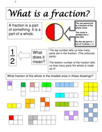 FRACTIONS 1 What is a fraction