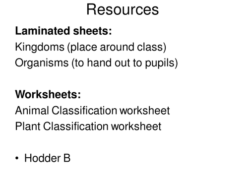 Classification of Plants and Animals by jballmate Teaching – Plant Classification Worksheet