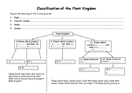 Classification Of Plants And Animals Teaching Resources
