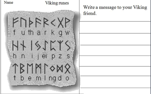 The Vikings, Runes by pwilloughby3 - Teaching Resources - TES