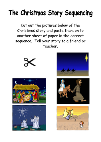 The Nativity Story Sequencing by kmed2020 - Teaching Resources - TES