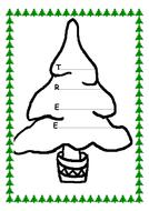 Christmas Tree Acrostic Poem Template by kmed2020 - Teaching ...