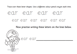 TES Phonics Does Handwriting - ear
