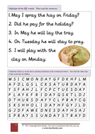 PHONICS Find the AY words.