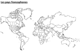 Francophonie by lnortcliffe teaching resources tes 1 blank outline map of worldppt 1 french speaking countriescx gumiabroncs Choice Image